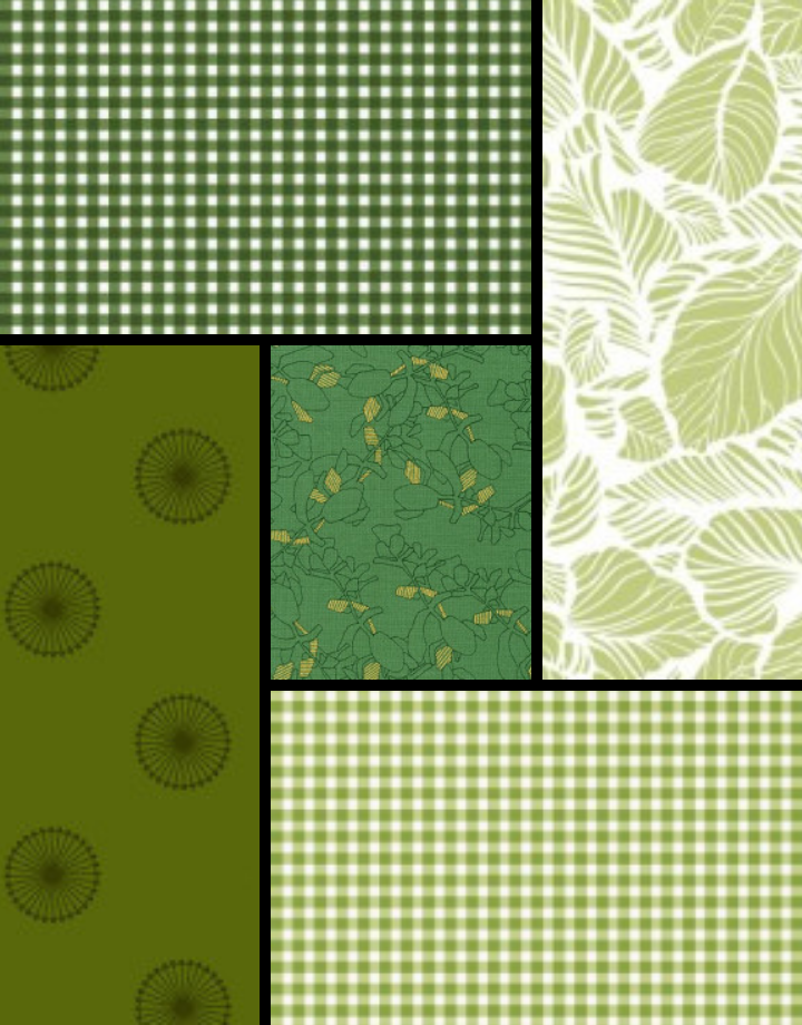 ROBERT KAUFMAN Earthly Greens Curated Fat 1/4 Bundle - 5 Pcs