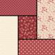 LAUNDRY BASKET QUILTS Andover Laundry Basket Quilts - Reds - Fat 1/4 Bundle - 5 Pcs