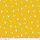 RILEY BLAKE DESIGNS Easter Egg Hunt, Bunnies, Mustard $0.20 per cm or $20/m