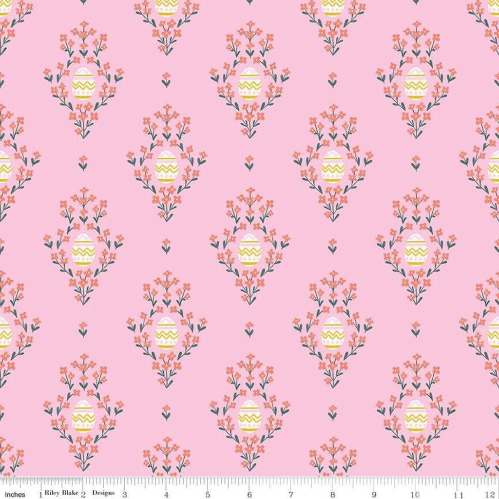 RILEY BLAKE DESIGNS Easter Egg Hunt, Eggs, Pink $0.20 per cm or $20/m