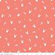 RILEY BLAKE DESIGNS Easter Egg Hunt, Bunnies, Coral $0.20 per cm or $20/m