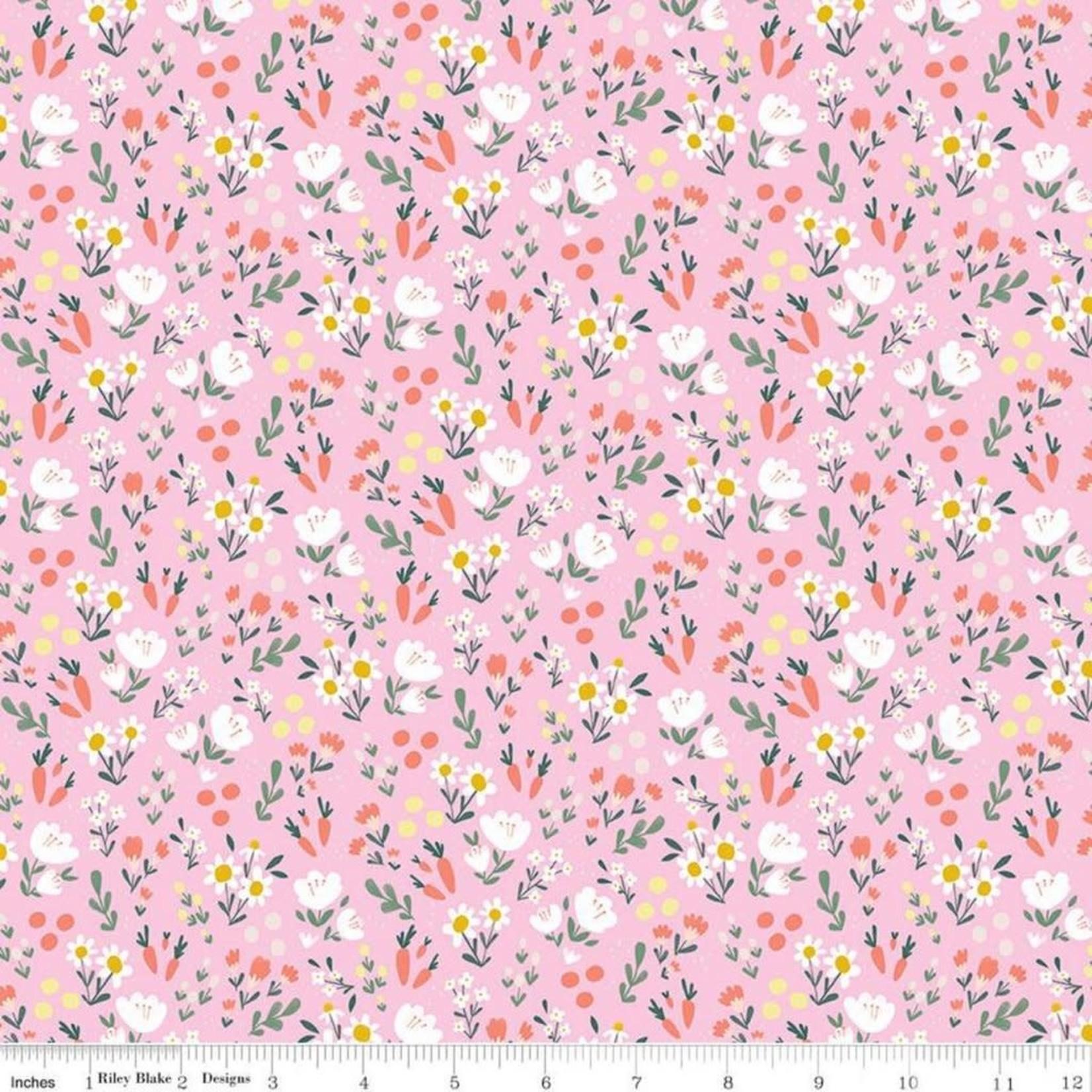 Riley Blake Designs Easter Egg Hunt, Floral, Pink $0.20 per cm or $20/m