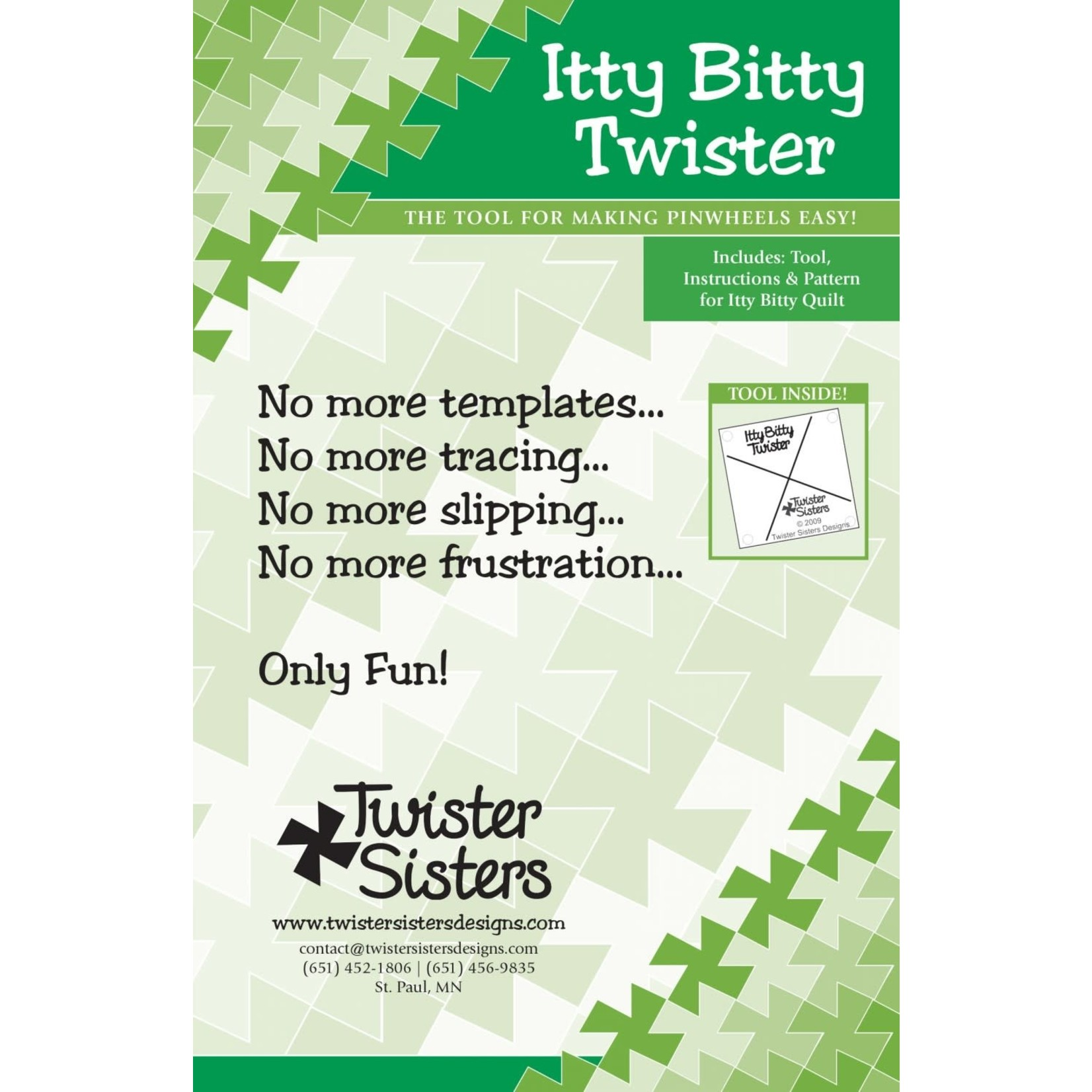 Twister Sisters Itty Bitty Twister Pinwheel