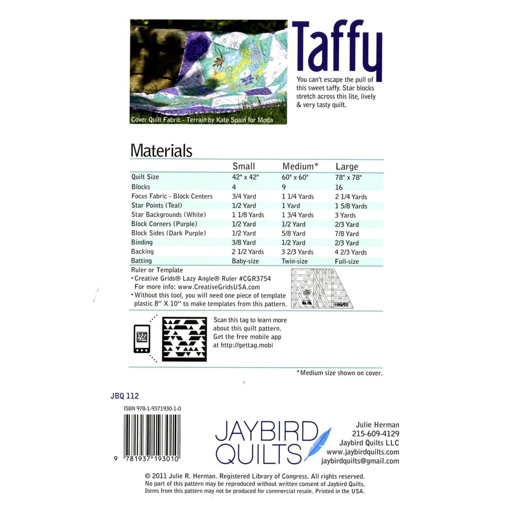 Jaybird Quilts Taffy Quilt Pattern