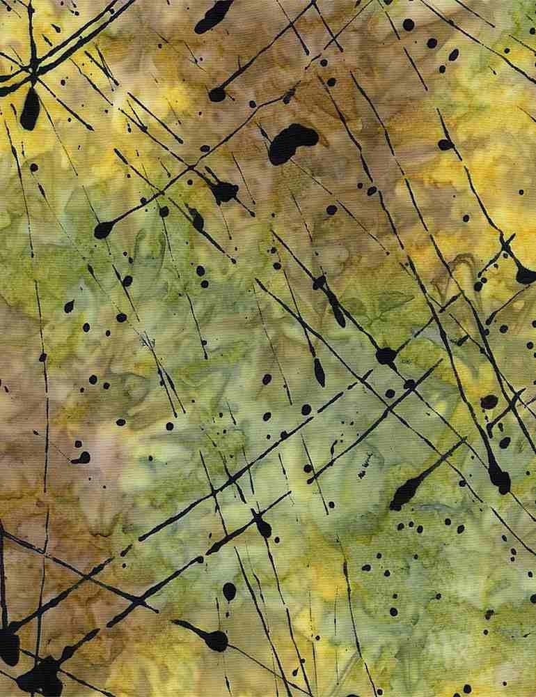TIMELESS TREASURES Tonga, Impact Splattered Thin Paint, Eden $0.18 per cm or $18/m
