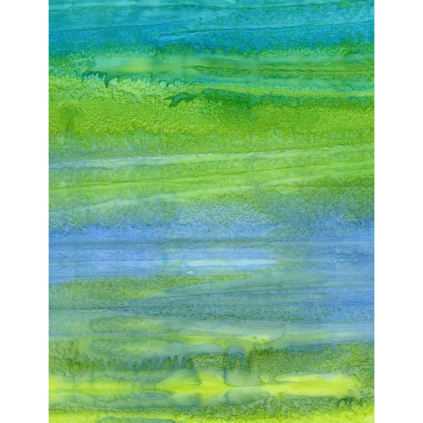 Timeless Treasures Tonga, Impact Watercolour Stripe, Mermaid $0.18 per cm or $18/m