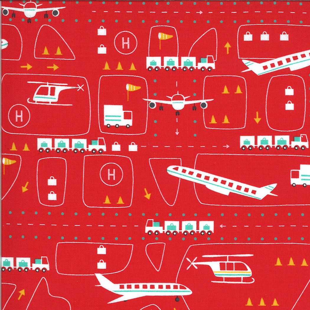 On The Go, Airport, Red Light (20722 16) $0.20 per cm or $20/m