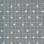 On The Go, Airplane Grid, Steel Grey (20726 19) $0.20 per cm or $20/m