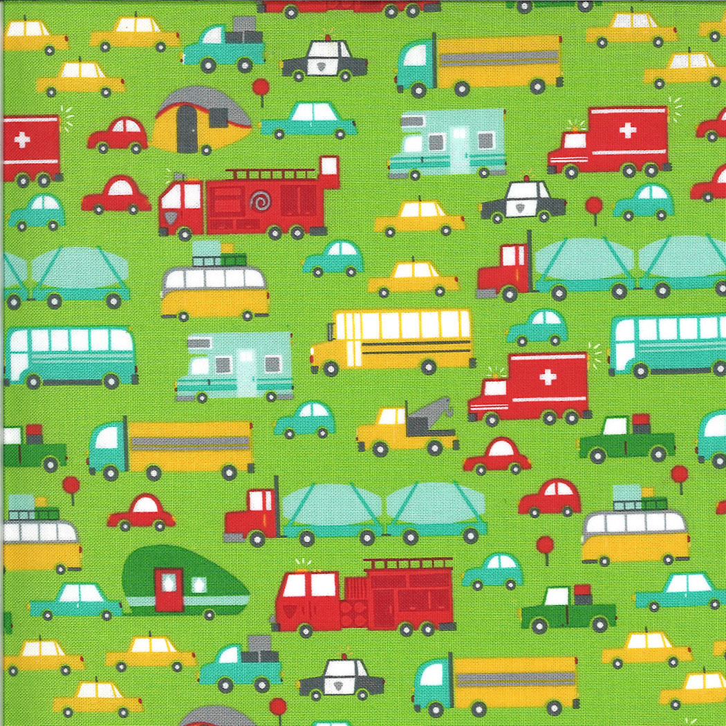 On The Go, Cars and Trucks, Grass Green (20721 14) $0.20 per cm or $20/m