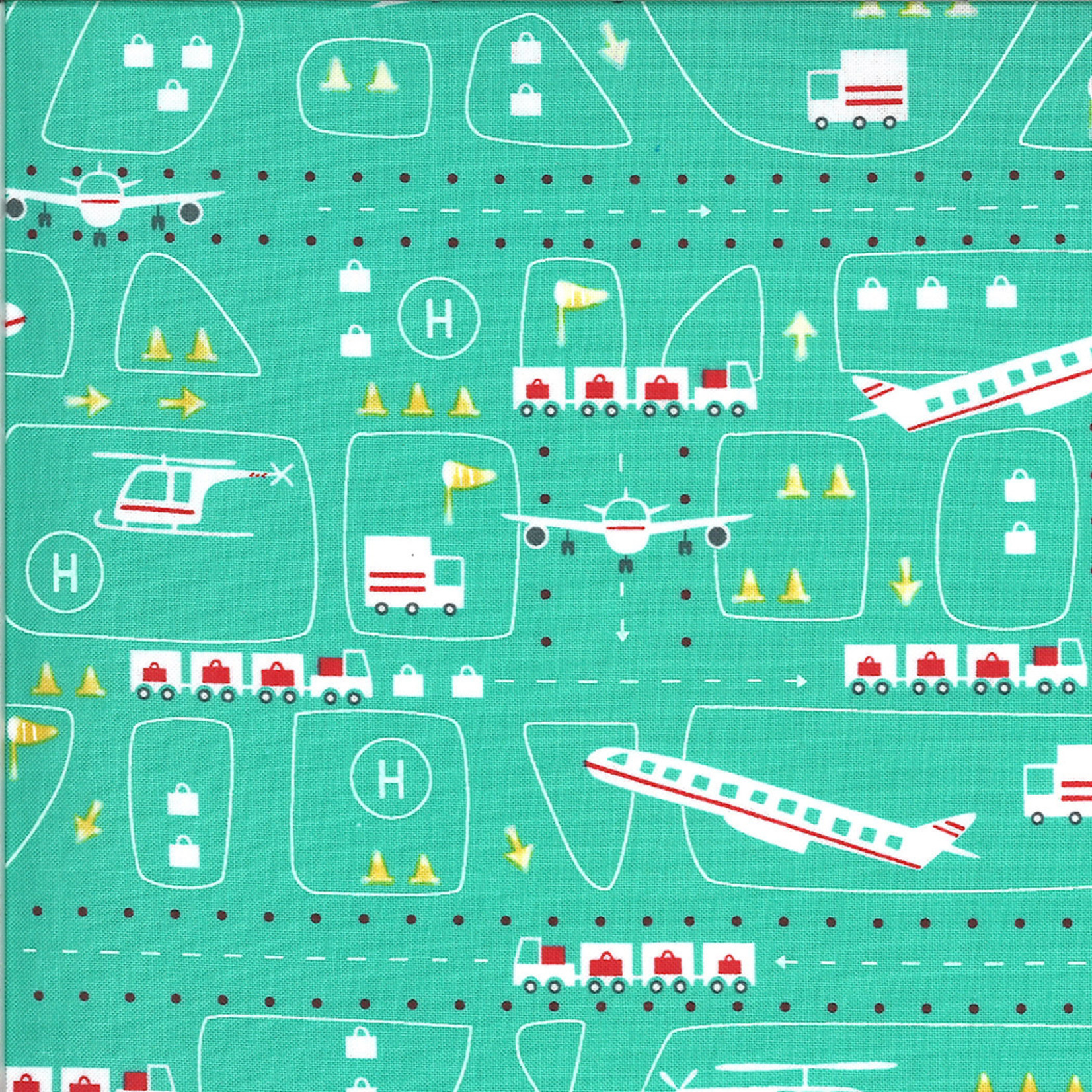 On The Go, Airport, Jet Stream Teal (20722 12) $0.20 per cm or $20/m