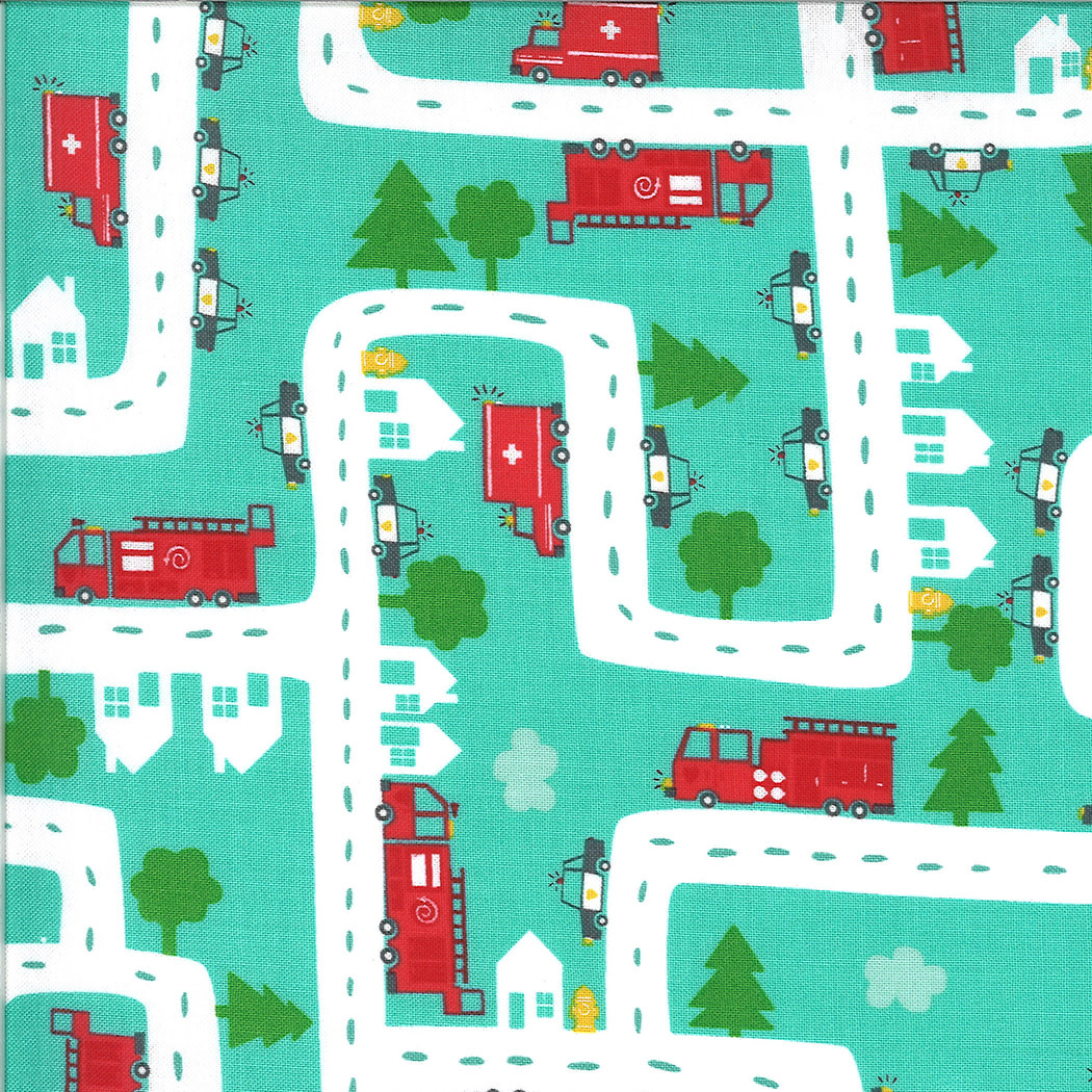 On The Go, Road, Jet Stream Teal (20723 12) $0.20 per cm or $20/m