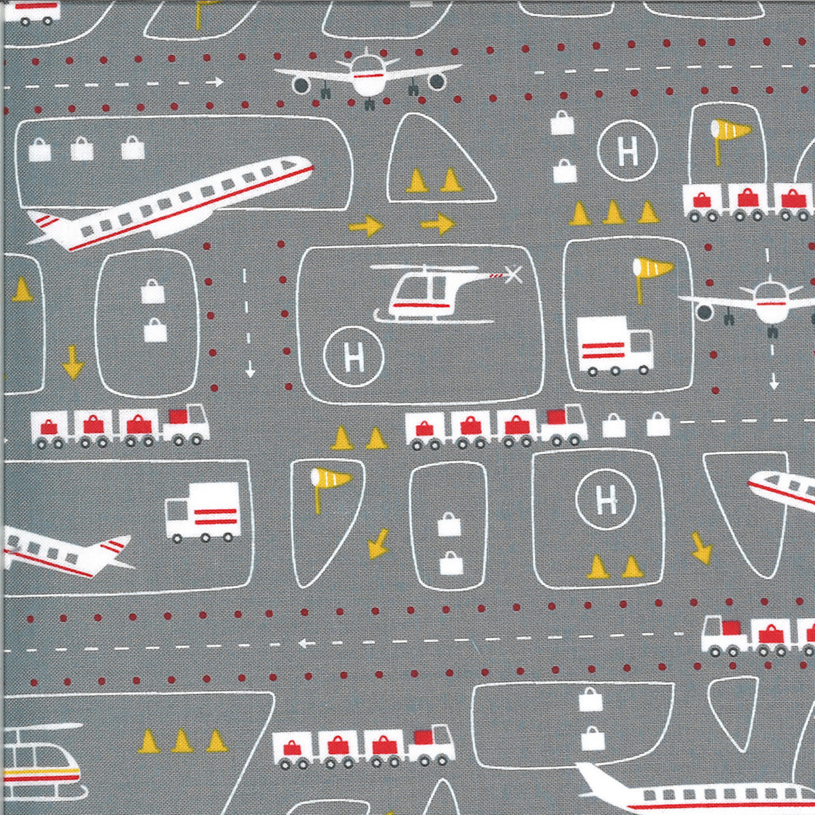On The Go, Airport, Steel Grey (20722 19) $0.20 per cm or $20/m