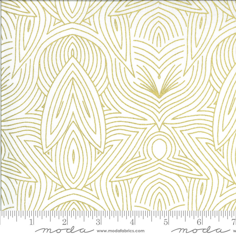 Gingiber Dwell In Possibility, Nouveau, Ivory Gold 48316 33M $0.21/cm or $21/m
