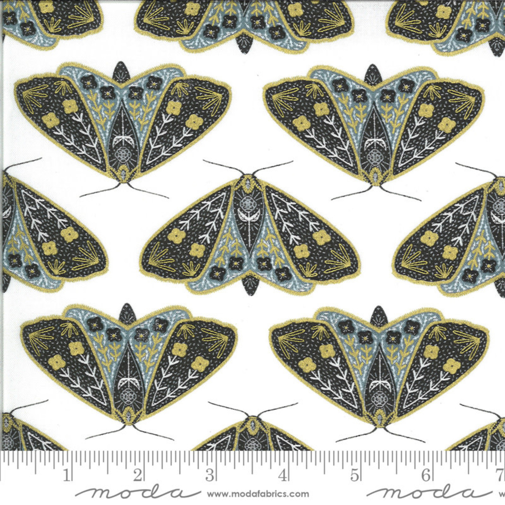 Gingiber Dwell In Possibility, Dainty Moth, Sky 48311 29M $0.21/cm or $21/m