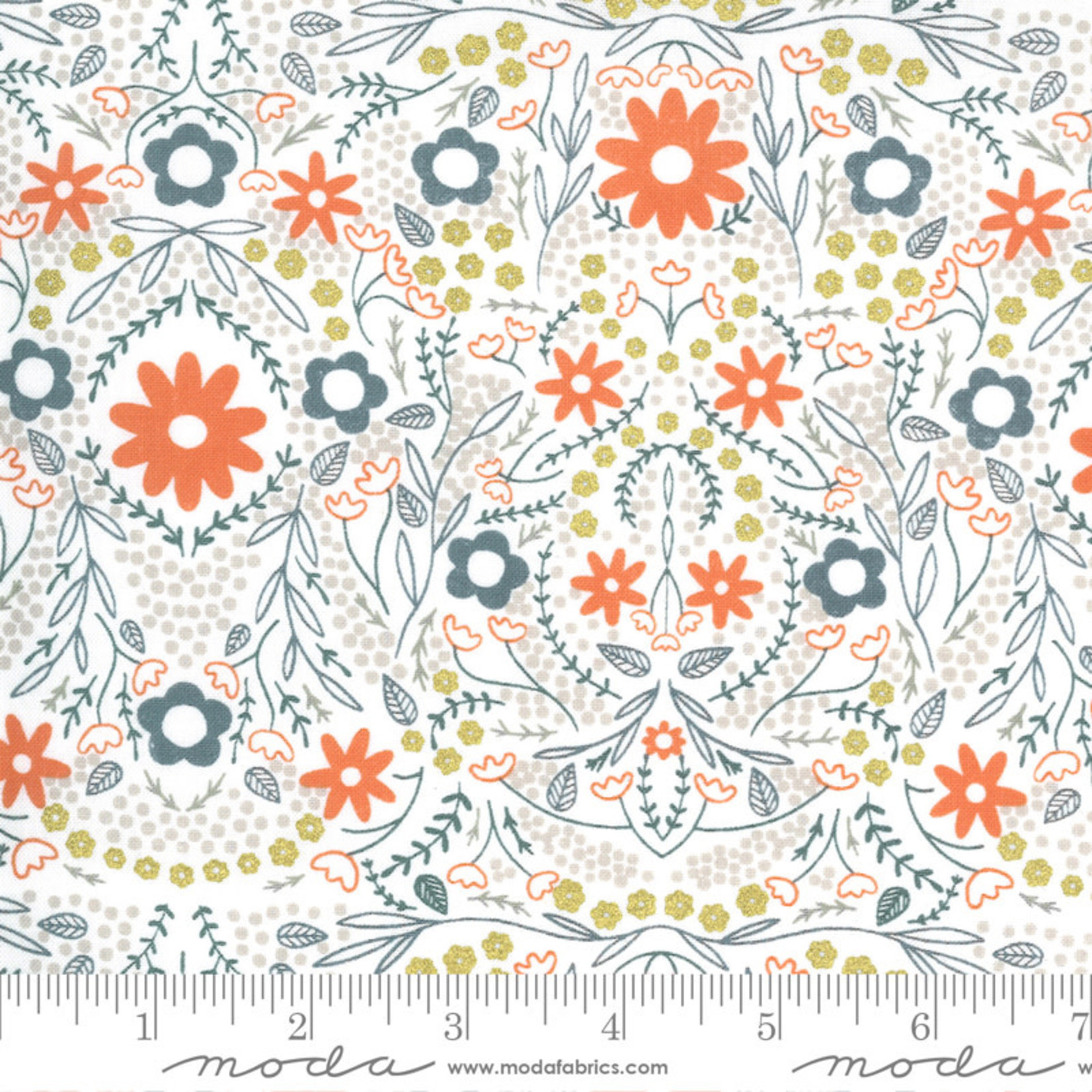 Gingiber Dwell In Possibility, Full Bloom, Ivory 48312 19M $0.21/cm or $21/m