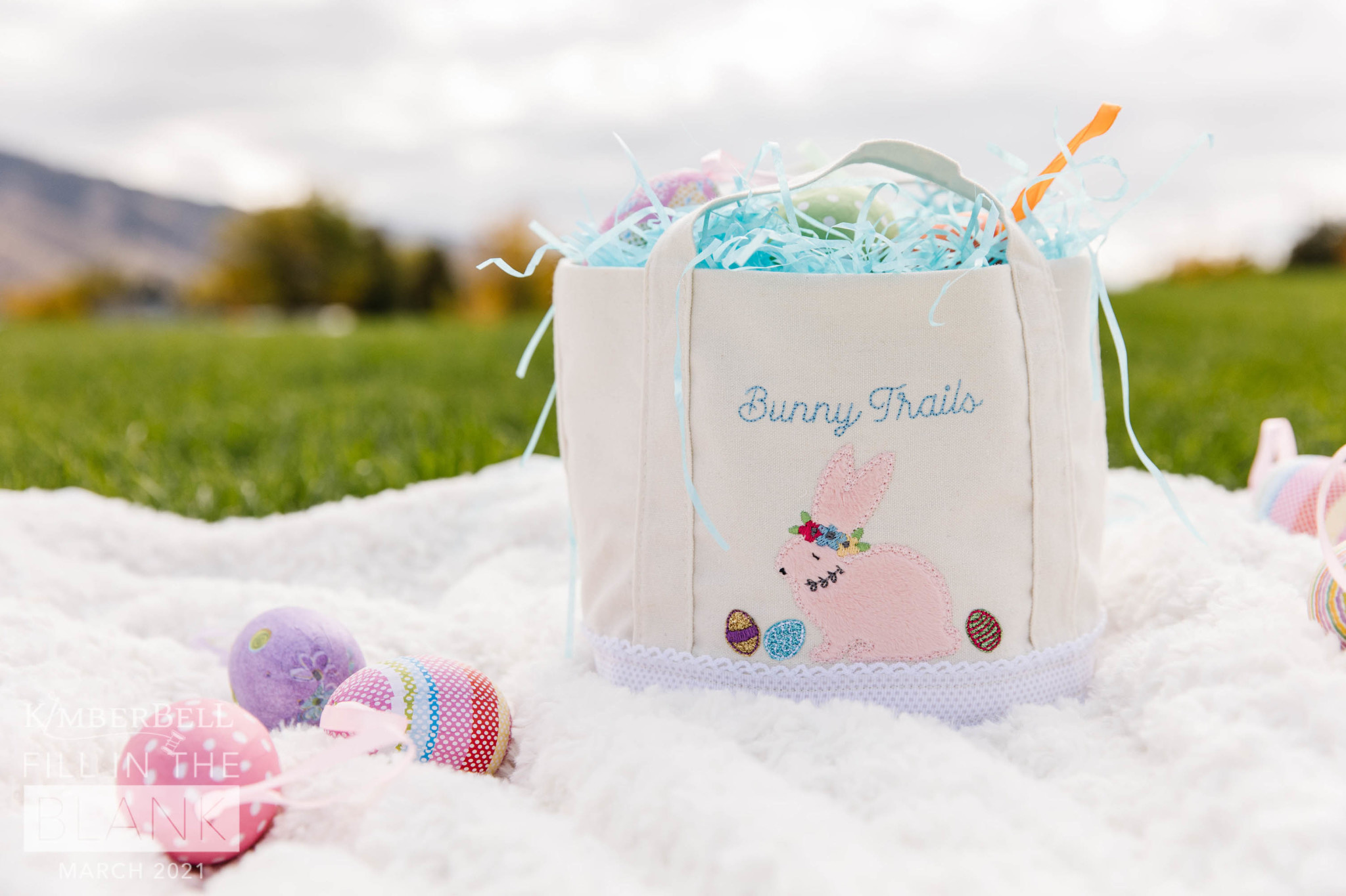 KIMBERBELL DESIGNS Fill In The Blank Bunny Busket Kit