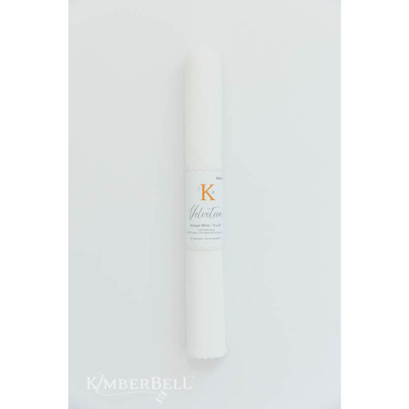 Kimberbell Designs Velveteen 12 x 24″ Antique White