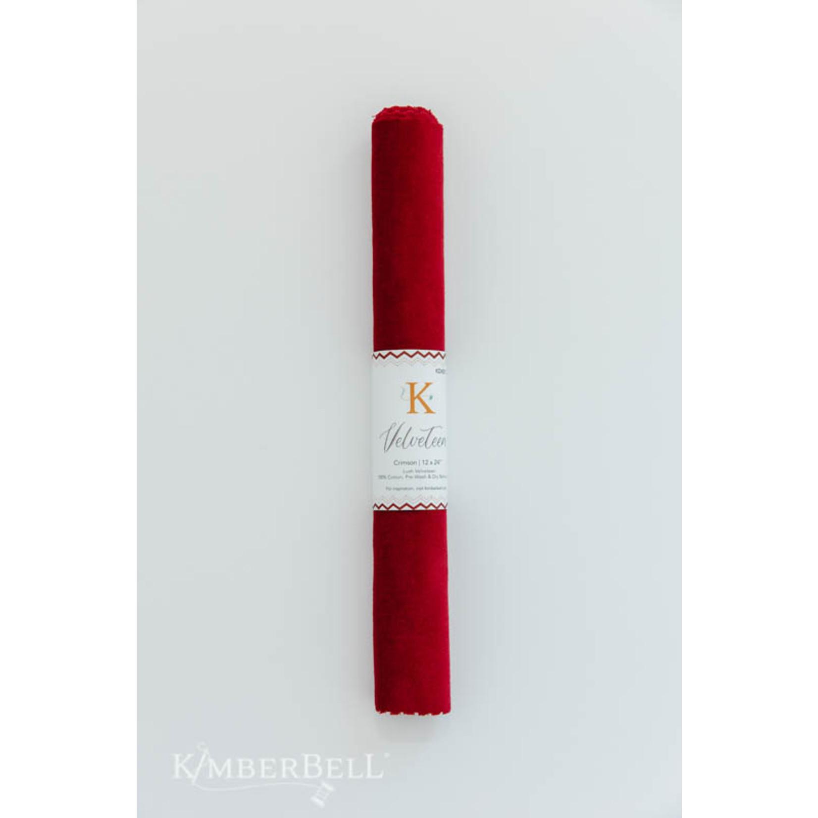 Kimberbell Designs Velveteen 12 x 24″ Crimson
