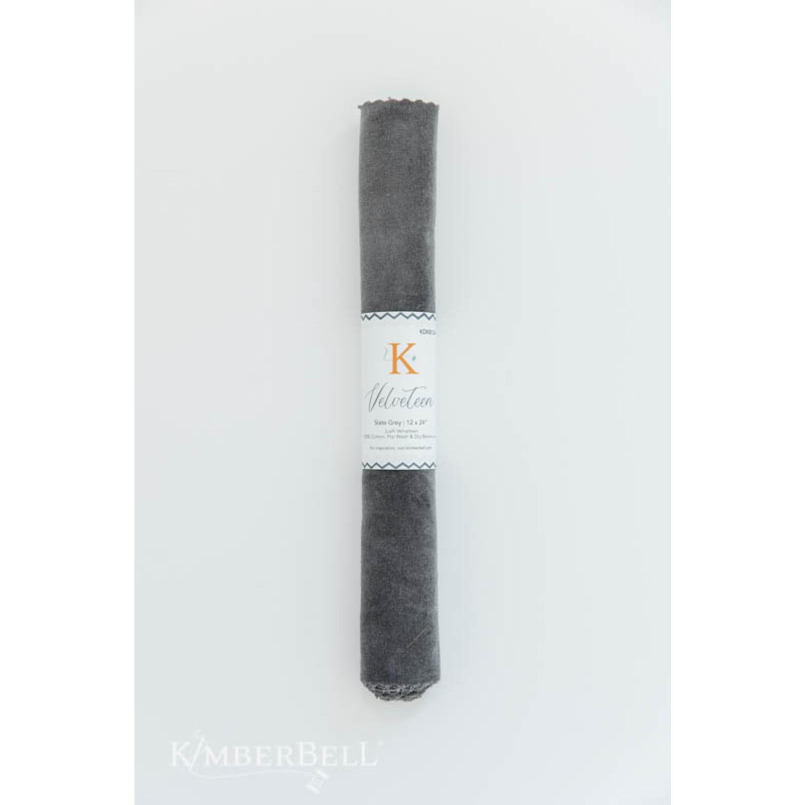 Kimberbell Designs Velveteen 12 x 24″ Slate Grey