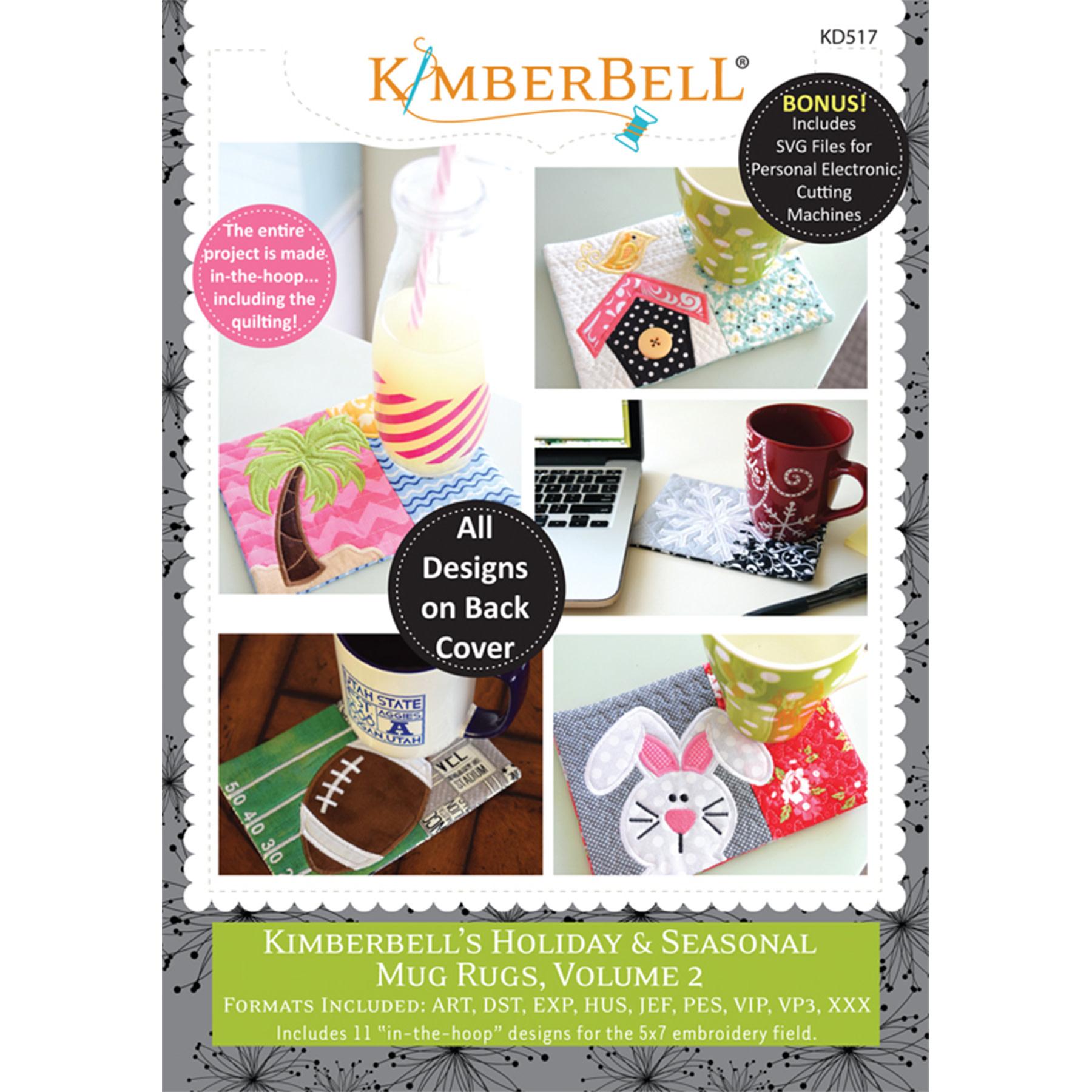 KIMBERBELL DESIGNS KIMBERBELL HOLIDAY & SEASONAL MUG RUGS VOL2