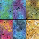 TIMELESS TREASURES Tonga, Impact Splattered Paint, Fat 1/4 Bundle - 6 Pcs