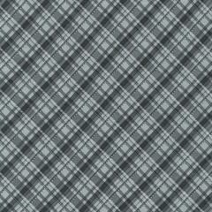 ROBERT KAUFMAN 50cm WINTER'S GRANDEUR 8, PLAID, SILVER $20/M