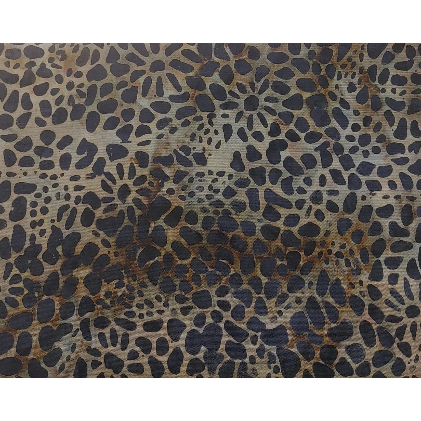 240cm Brown Spots Pebble Pattern Batik $20/M