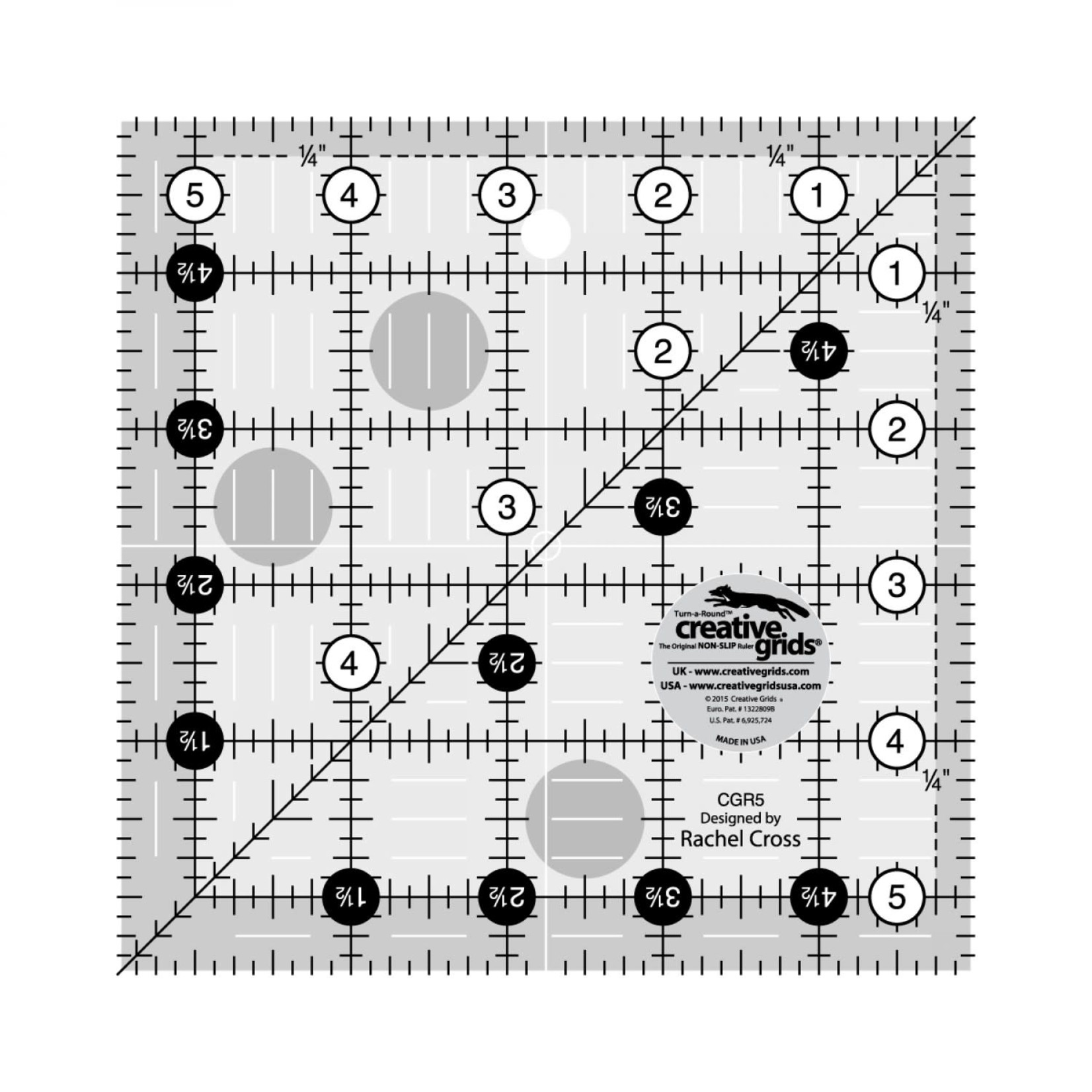 Creative Grids Creative Grids 5 1/2 X 5 1/2 Ruler CGR5