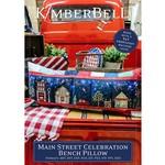 Kimberbell Designs Main Street Celebration Bench Pillow Machine Embroidery