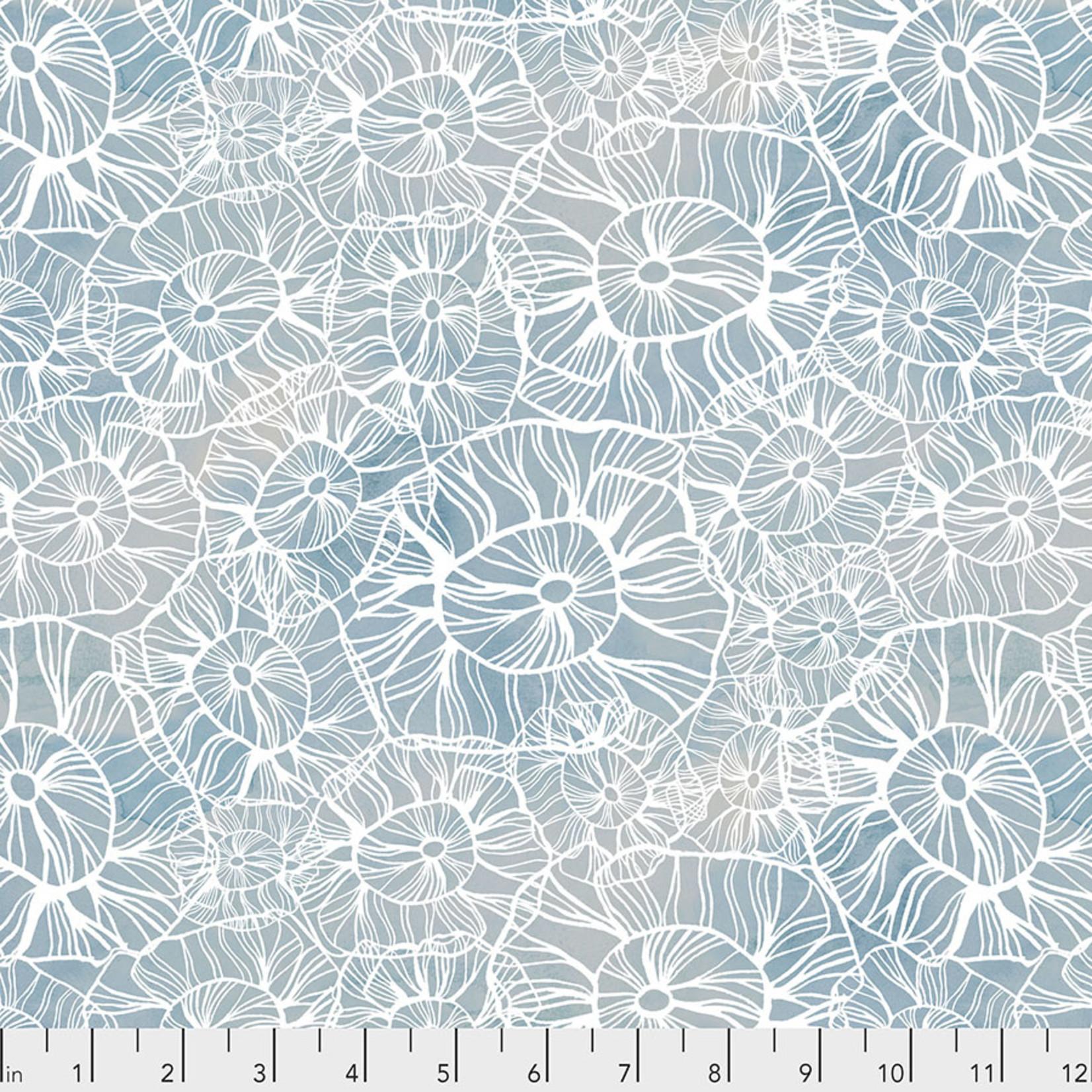 Free Spirit Time and Tide, Sea Flower - Ocean- $0.16 per cm or $16/m