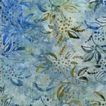Laundry Basket Quilts Baker's Dozen Batiks, Lilacs, Celestial Blue 8501-W $0.20 per cm or $20/m