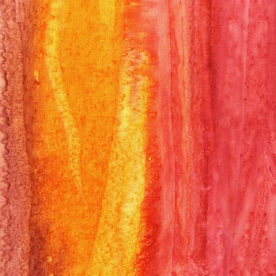 LAUNDRY BASKET QUILTS Splash of Color, Striped, Orange 8682-O $0.20 per cm or $20/m