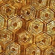 LAUNDRY BASKET QUILTS Splash of Color, Honeycomb, Caramel 8597-N $0.20 per cm or $20/m