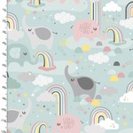 3 Wishes Small and Mighty - Rainbow Elephants  .13/cm or $13/m