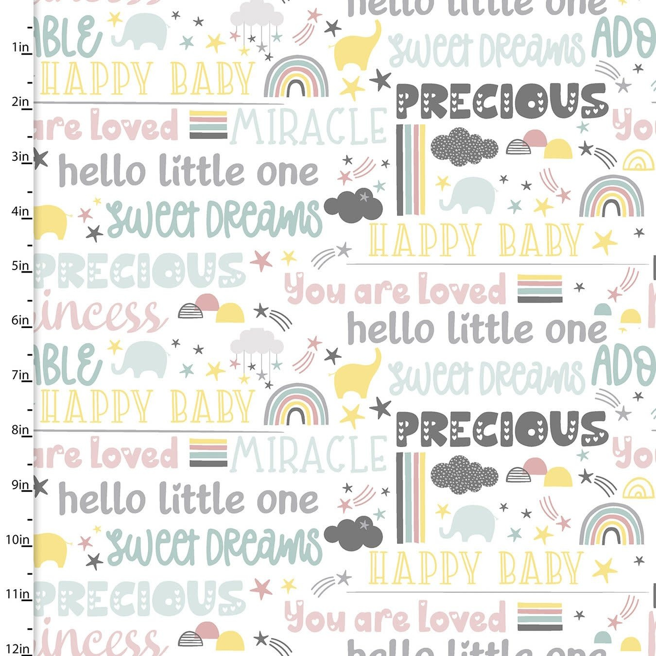 3 Wishes Small and Mighty - Precious Words  .13/cm or $13/m