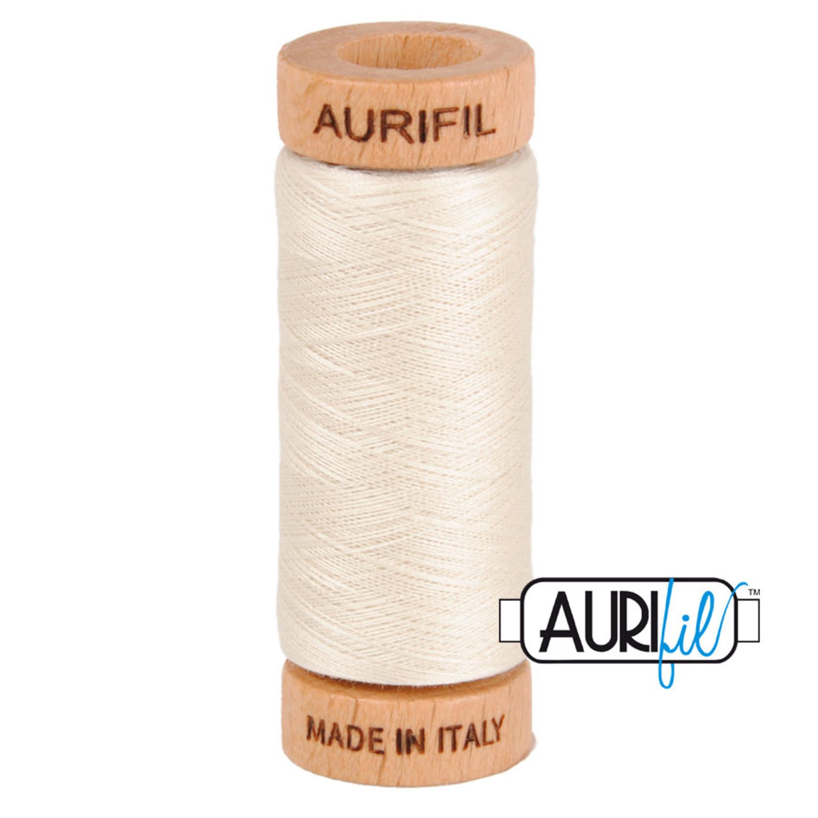 AURIFIL AURIFIL 80 WT Silver White 2309 COTTON FLOSS