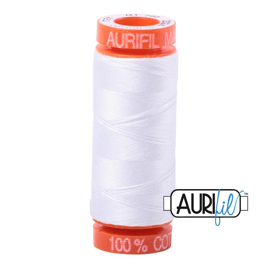 AURIFIL AURIFIL 50 WT White 2024 Small Spool