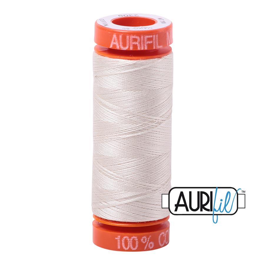 AURIFIL AURIFIL 50 WT Silver White 2309 Small Spool