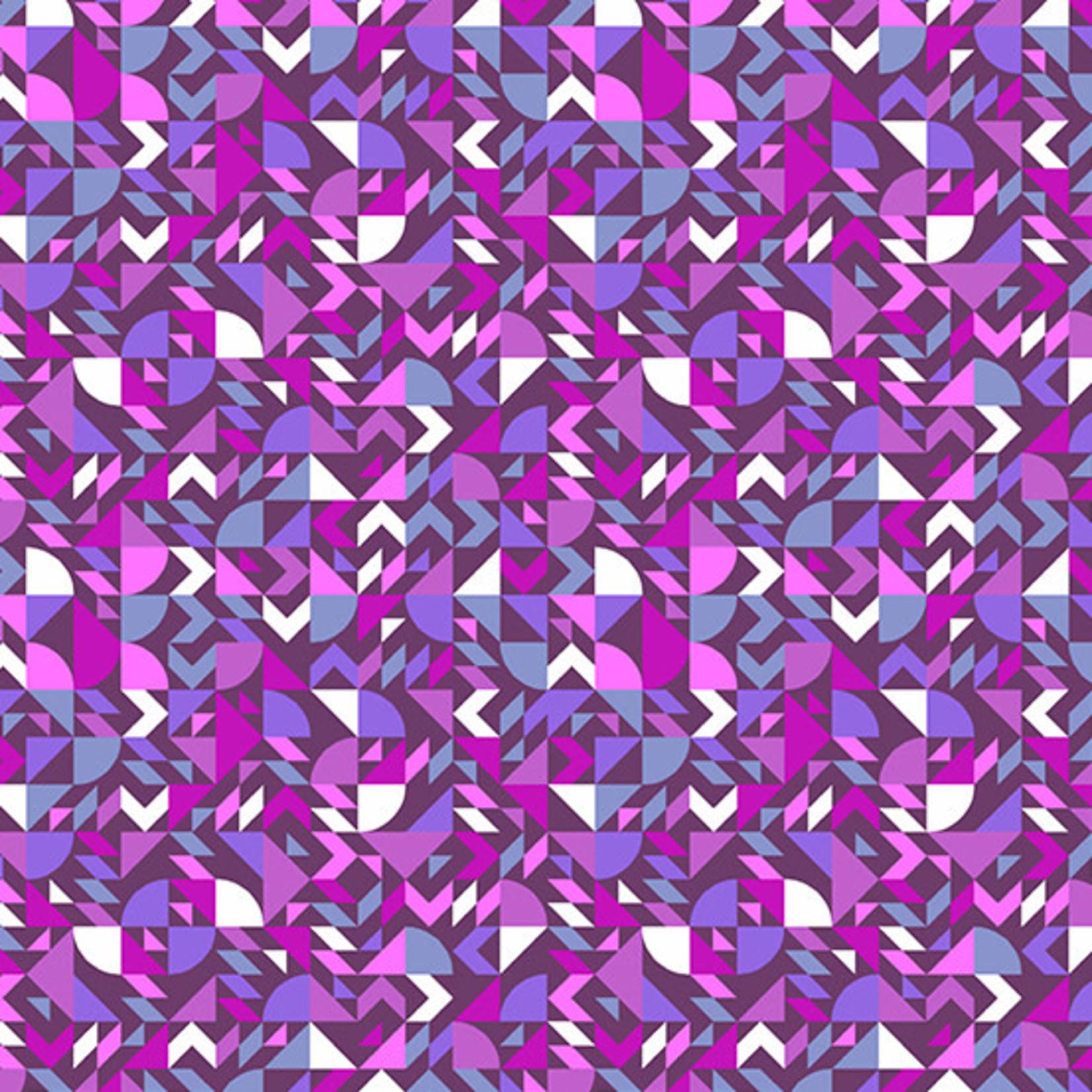 Andover The Andover Collective 9437 P, Purple Geometric, $0.19/cm or $19/m