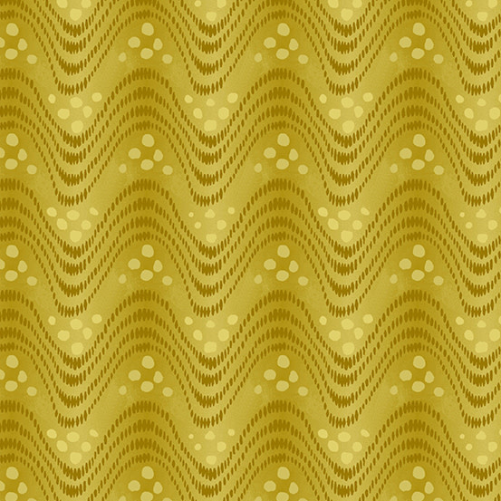 ANDOVER The Andover Collective 9440 Y, Yellow Waves, $0.19/cm or $19/m