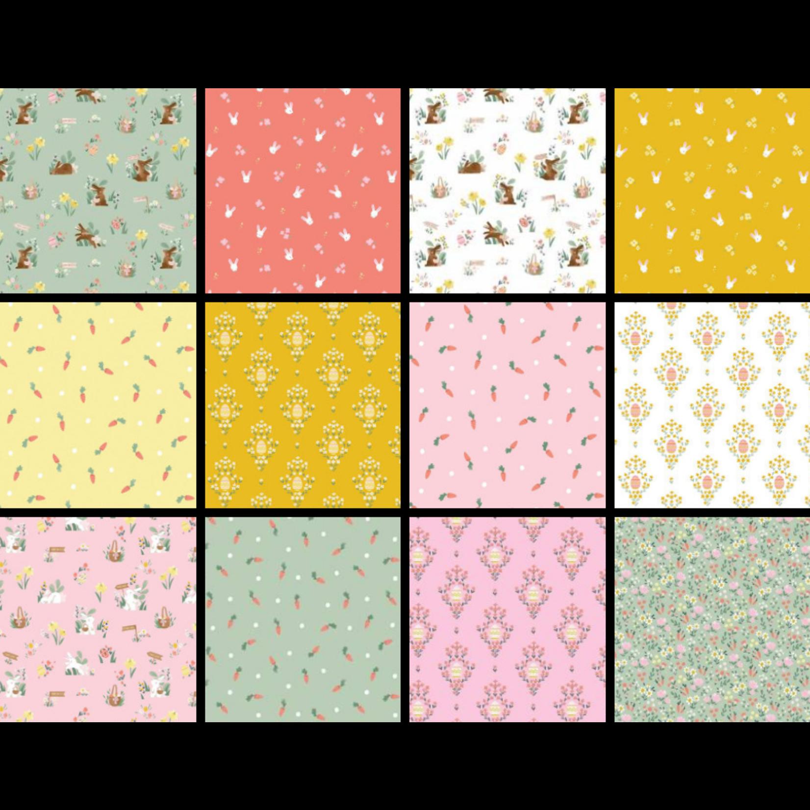 Riley Blake Designs Easter Egg Hunt, Curated Fat 1/4 Bundle - 12 Pcs