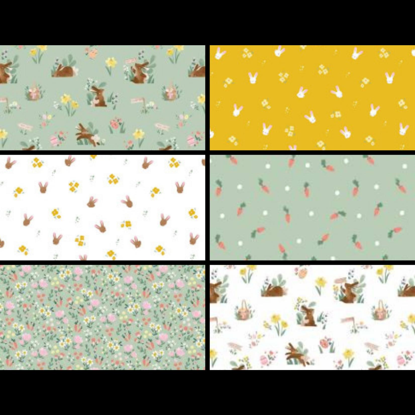 Riley Blake Designs Easter Egg Hunt, Greens Curated Fat 1/4 Bundle - 6 Pcs