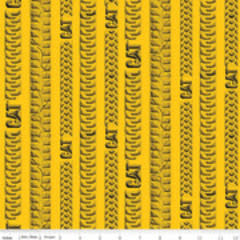 RILEY BLAKE DESIGNS PRE CUT FOR BACKING 460cm  CAT TRACKS, YELLOW (9103)