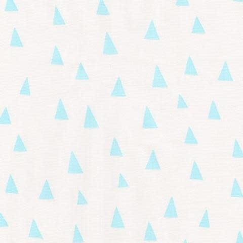 ROBERT KAUFMAN PRE CUT FOR BACKING 540CM PENNED PALS, BLUE TRIANGLES ON WHITE