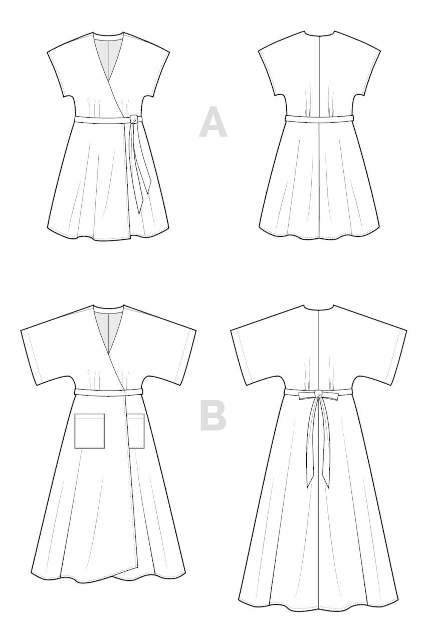 Closet Core Patterns Closet Core - Elodie Wrap Dress Pattern 0-20