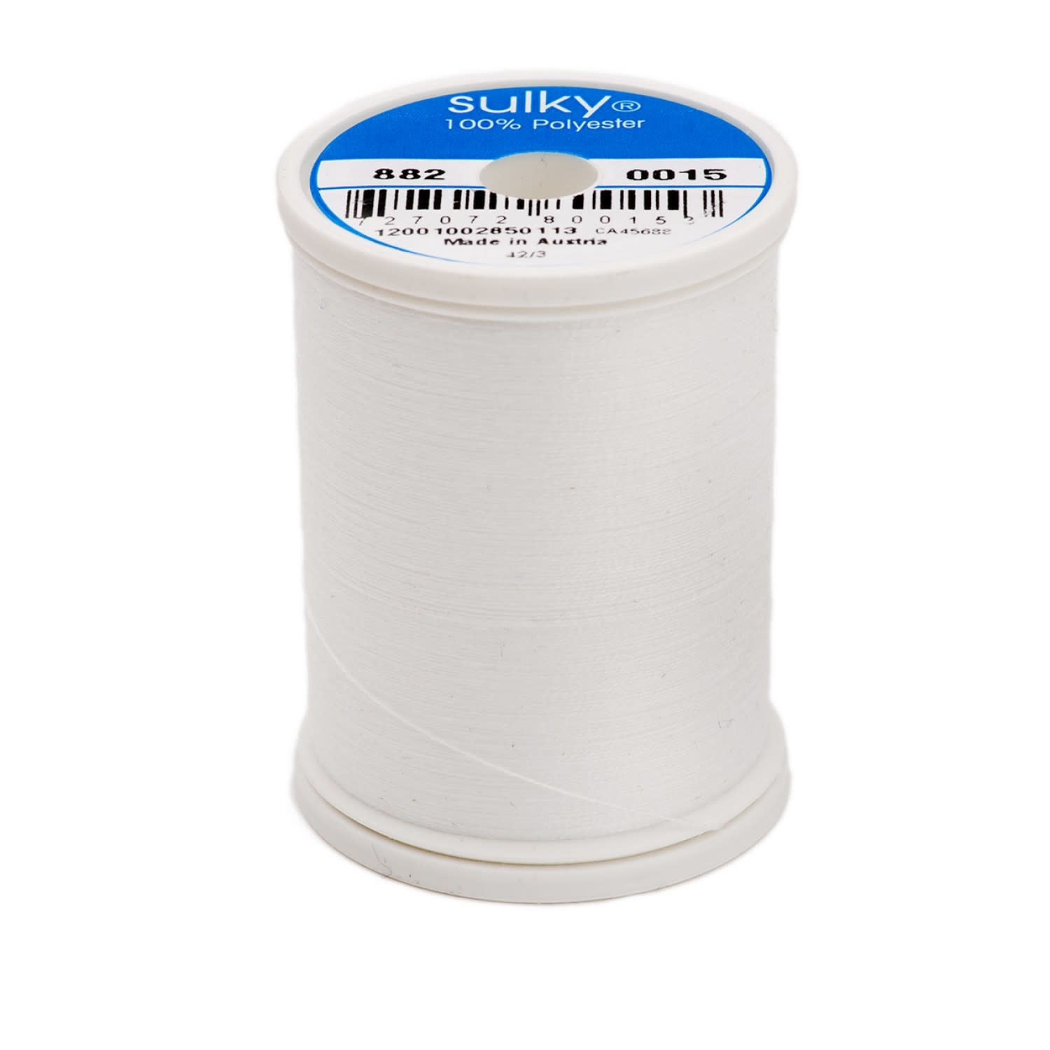 SULKY Polyester Bobbin Thread 60wt 1100yds White # 8820015