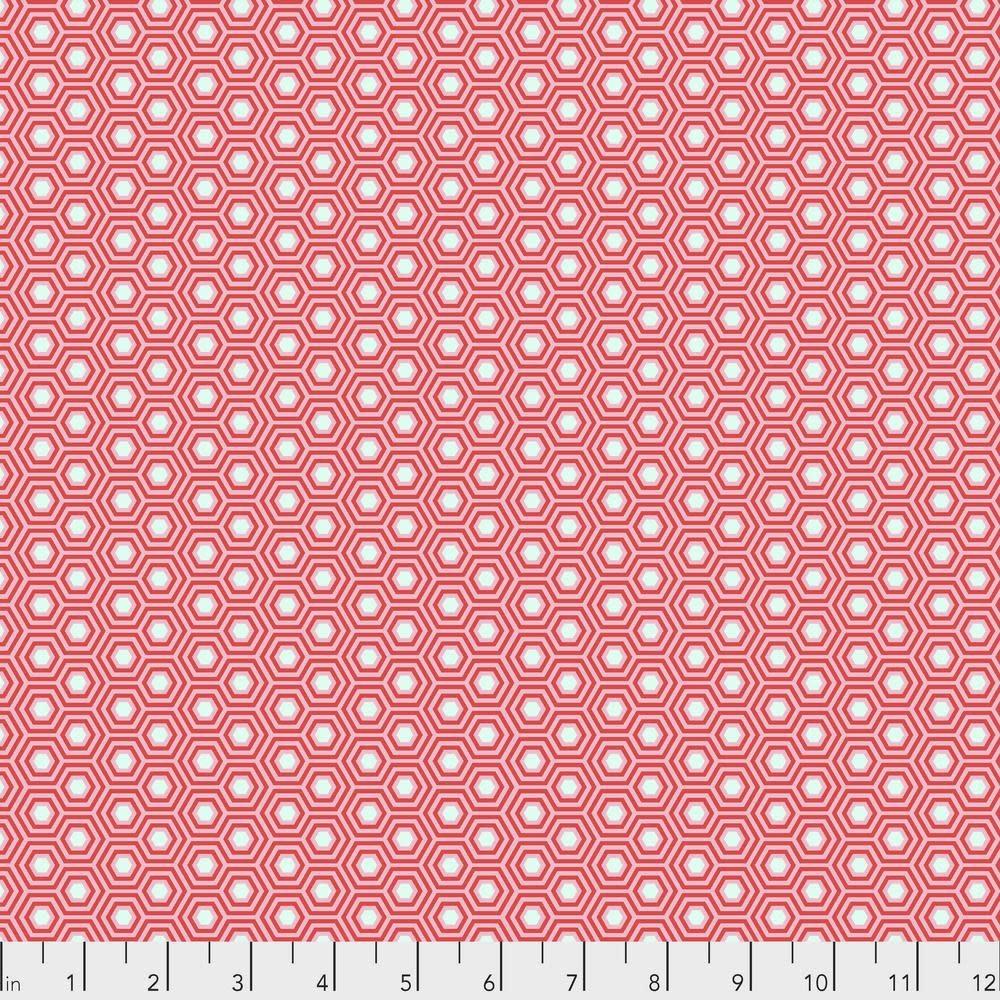 Tula Pink Tula Hexy, Flamingo $0.17  per cm or $17/m