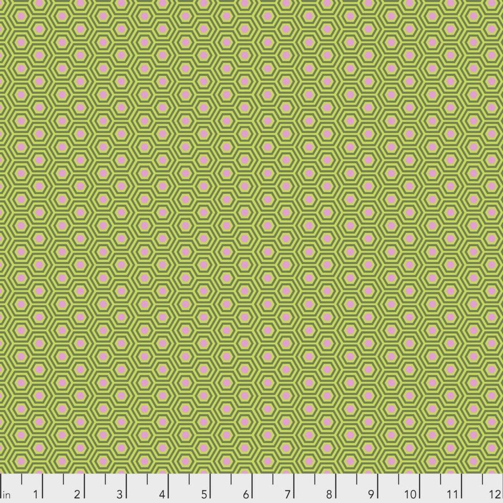Tula Pink Tula Hexy, Juniper $0.17 per cm or $17/m