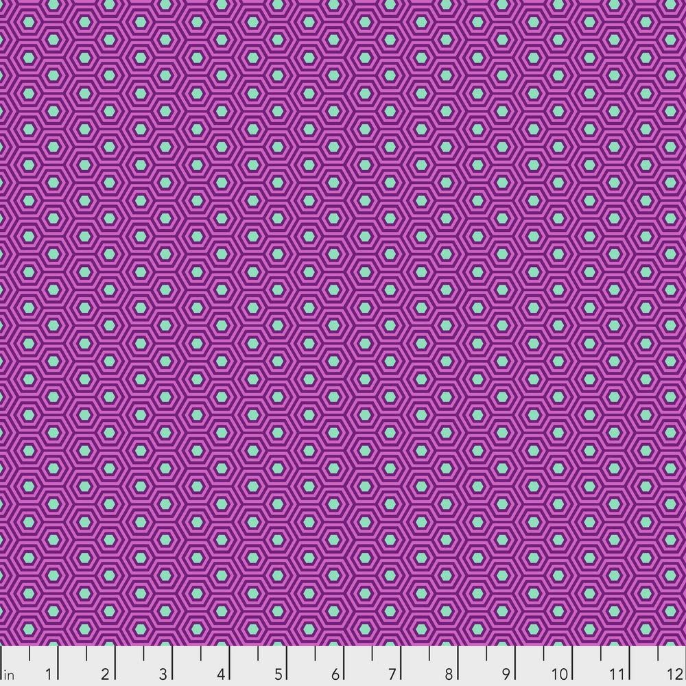 Tula Pink Tula Hexy, Thistle  .017 per cm or $17/m