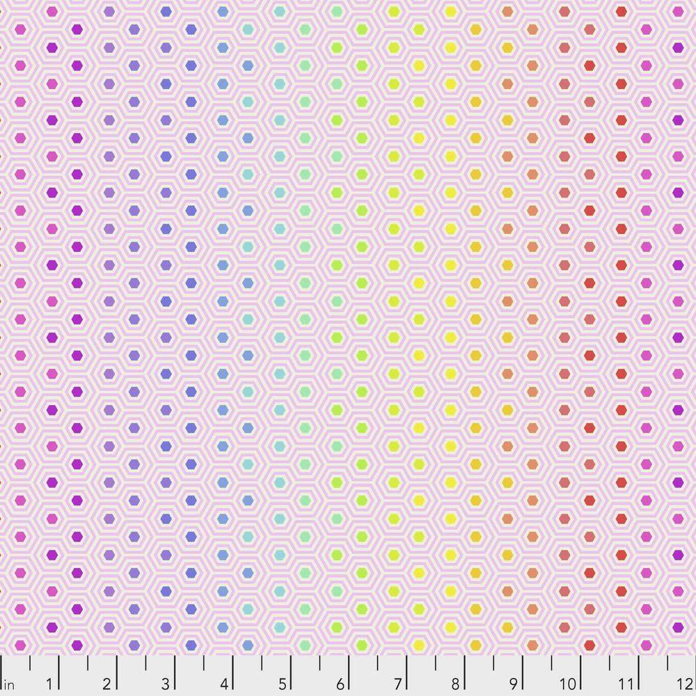 Tula Pink Tula Hexy, Rainbow Shell $0.17  per cm or $17/m